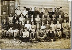 1942 or earlier Mama's class at Coombs High School, Bowdoinham